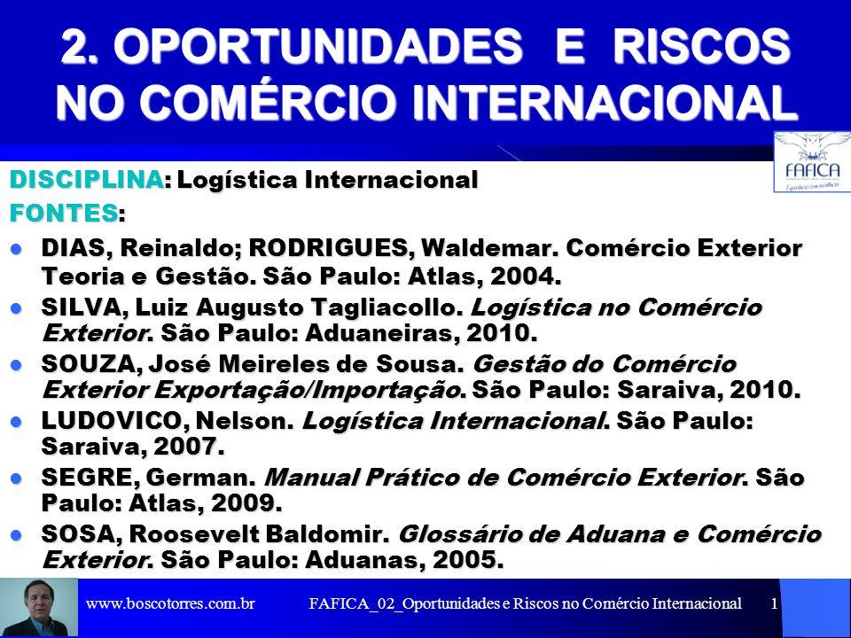 2. OPORTUNIDADES E RISCOS NO COMÉRCIO INTERNACIONAL