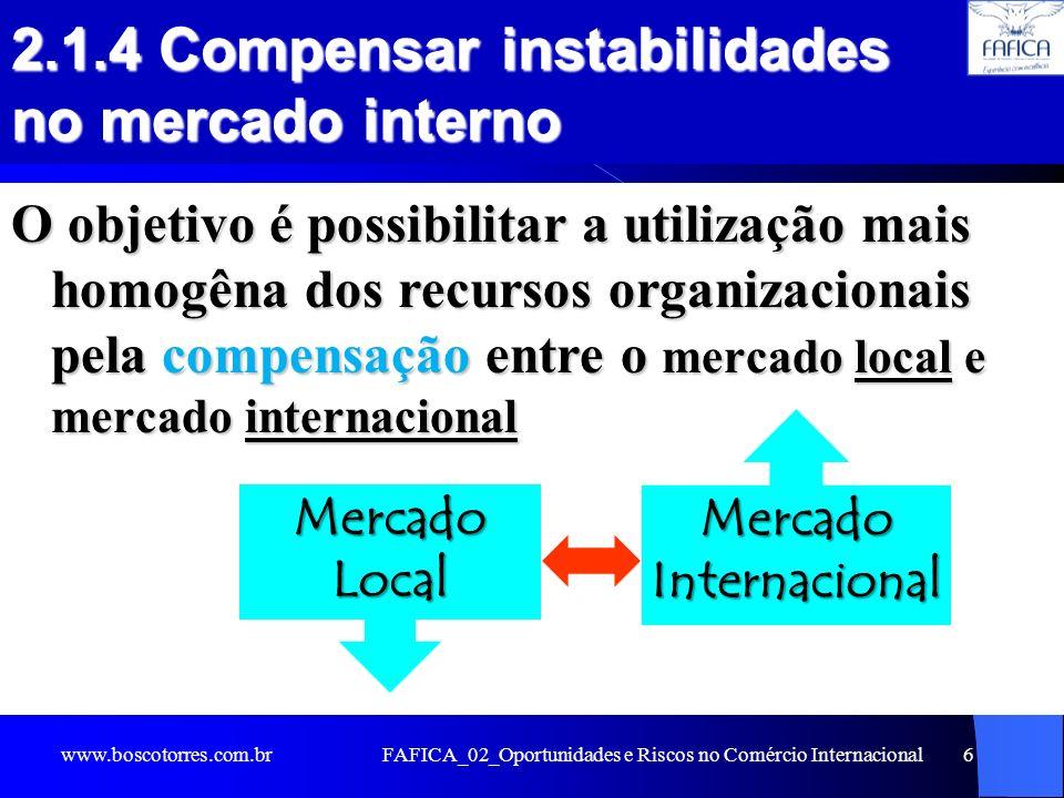 2.1.4 Compensar instabilidades no mercado interno