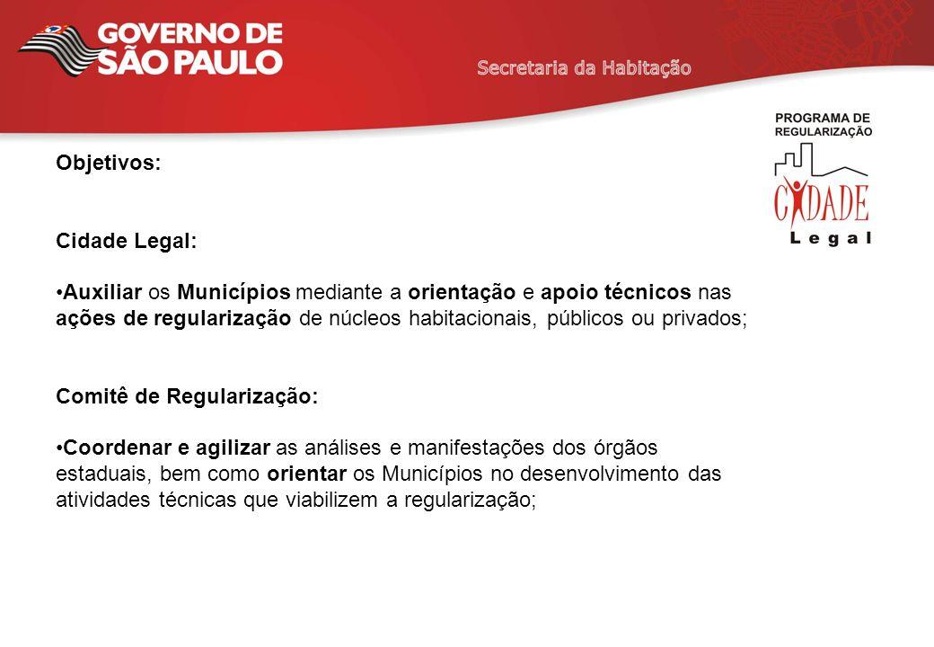 Objetivos: Cidade Legal: