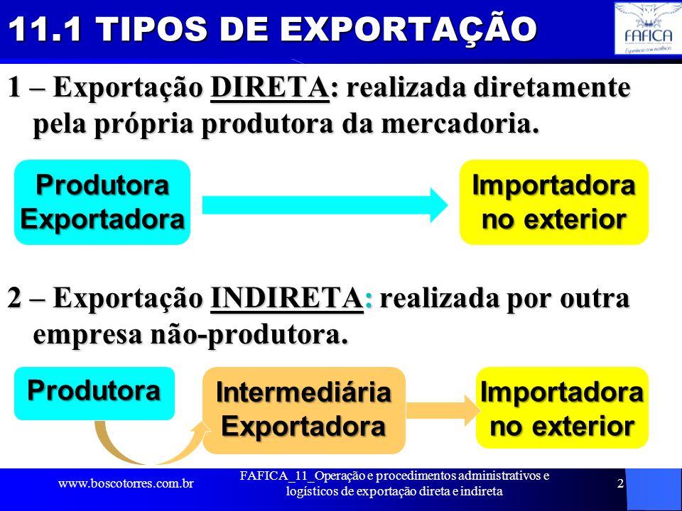 11.1 TIPOS DE EXPORTAÇÃO