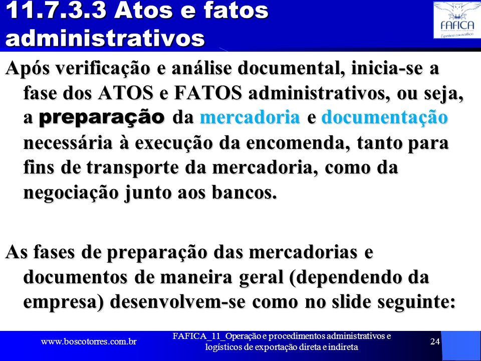 11.7.3.3 Atos e fatos administrativos