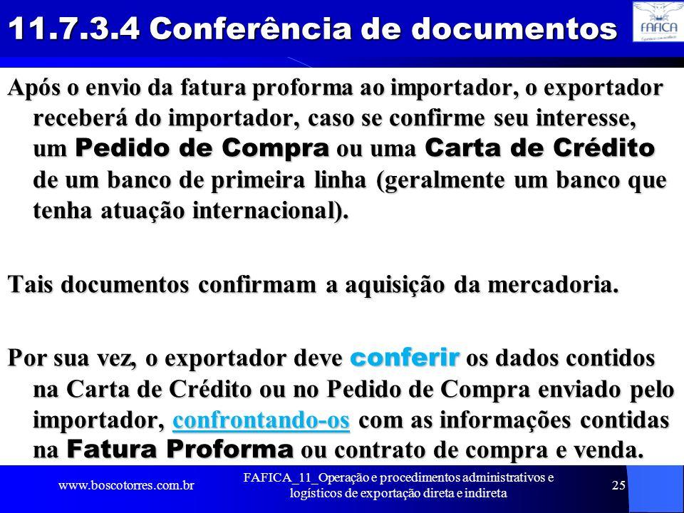 11.7.3.4 Conferência de documentos