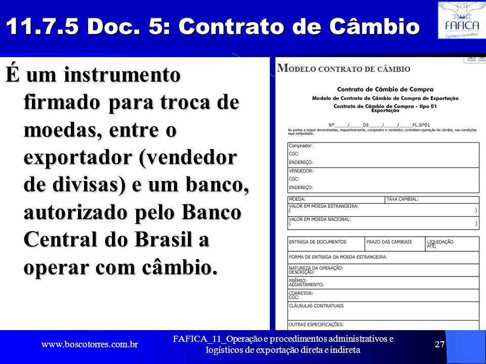 11.7.5 Doc. 5: Contrato de Câmbio