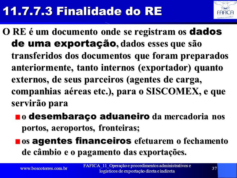 11.7.7.3 Finalidade do RE