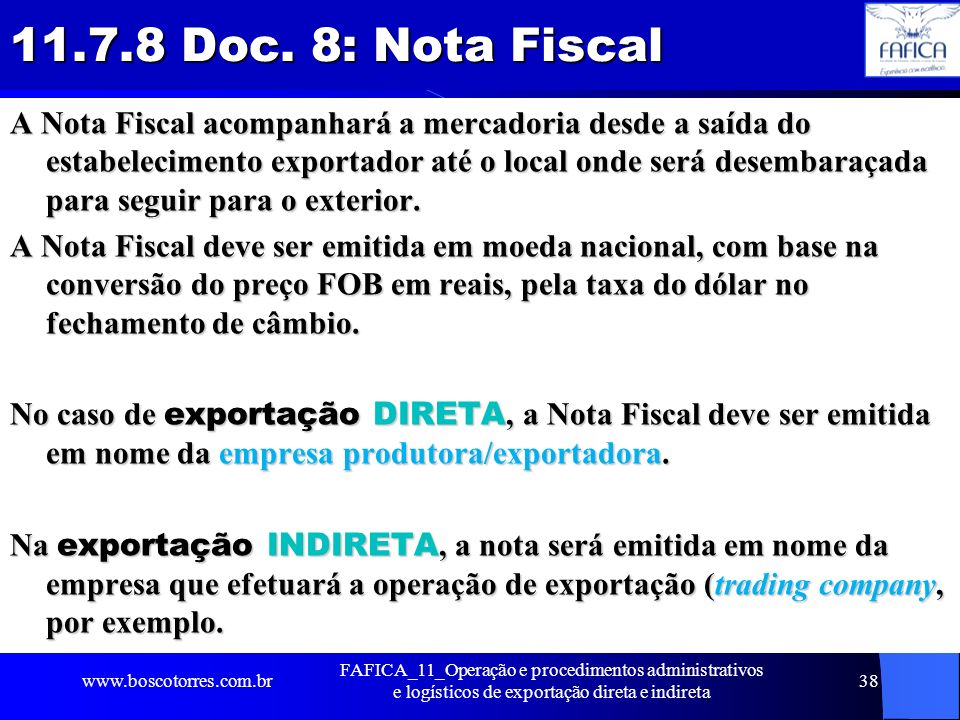 11.7.8 Doc. 8: Nota Fiscal
