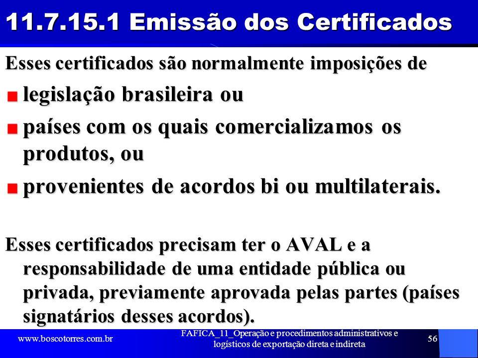 11.7.15.1 Emissão dos Certificados