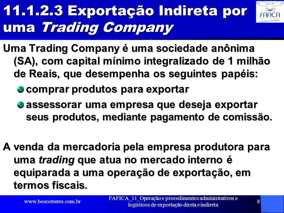 11.1.2.3 Exportação Indireta por uma Trading Company