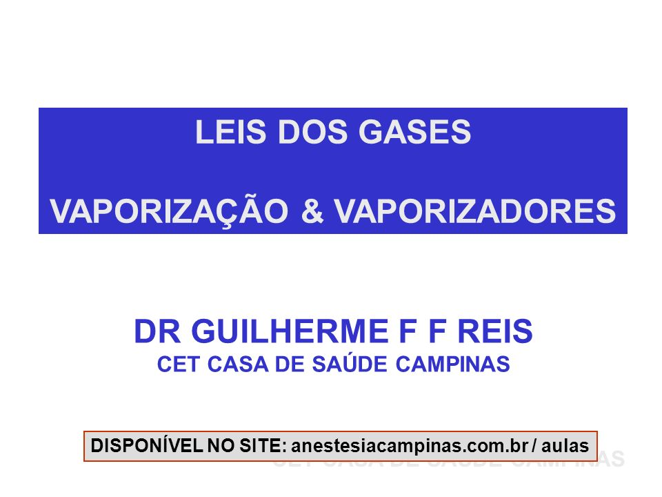 VAPORIZAÇÃO & VAPORIZADORES CET CASA DE SAÚDE CAMPINAS
