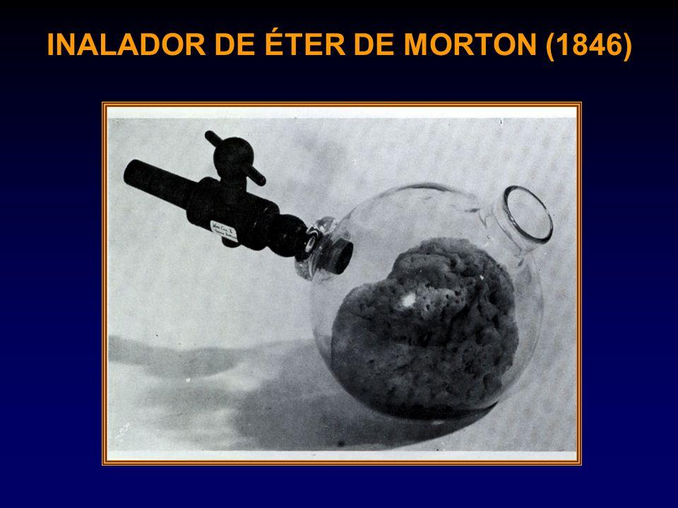 INALADOR DE ÉTER DE MORTON (1846)