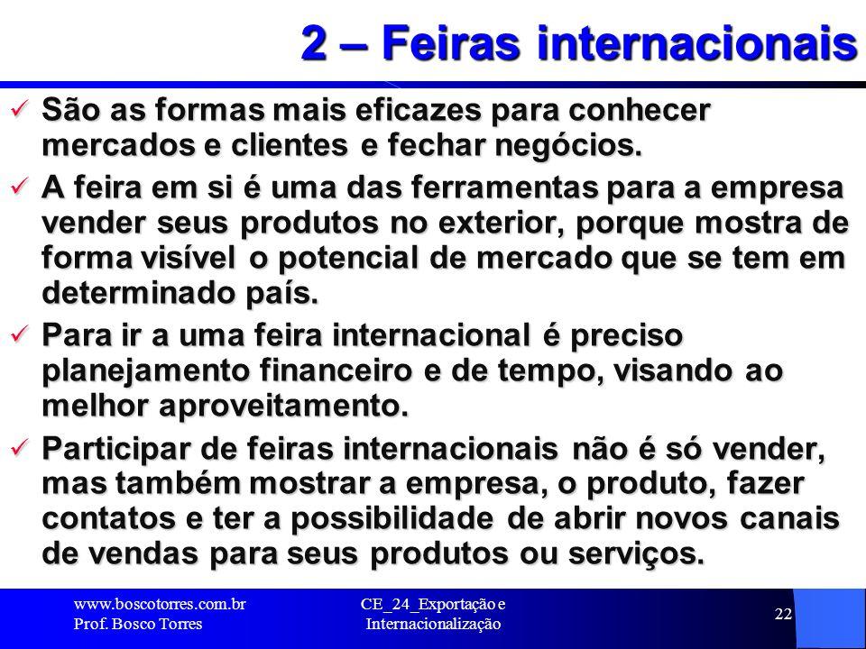 2 – Feiras internacionais