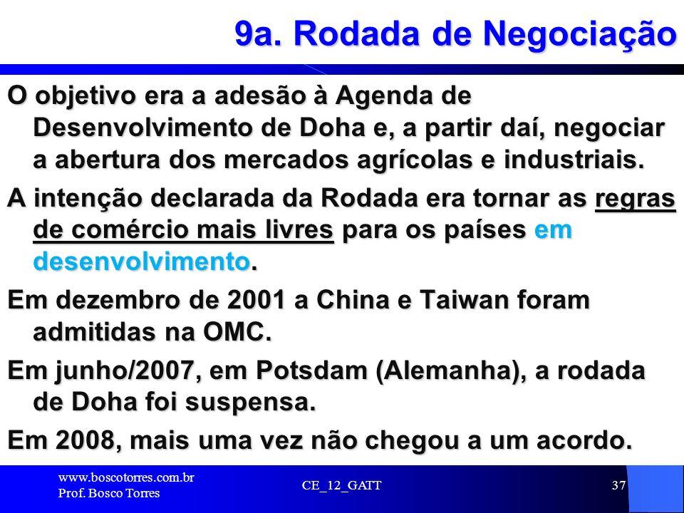 9a. Rodada de Negociação