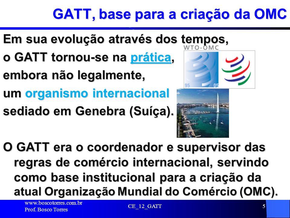 GATT, base para a criação da OMC
