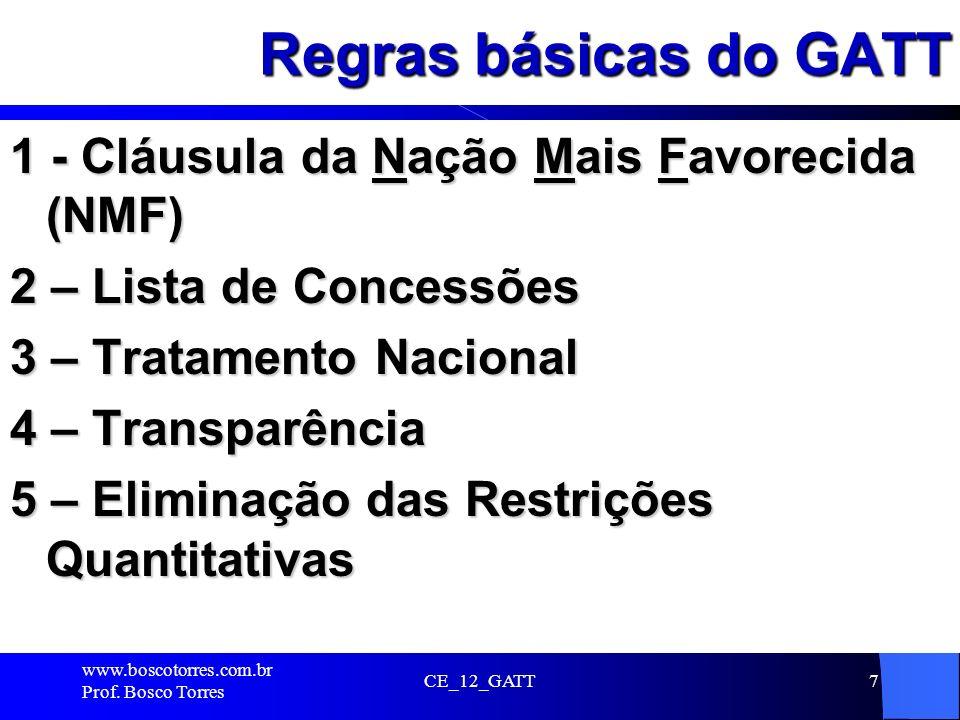 Regras básicas do GATT