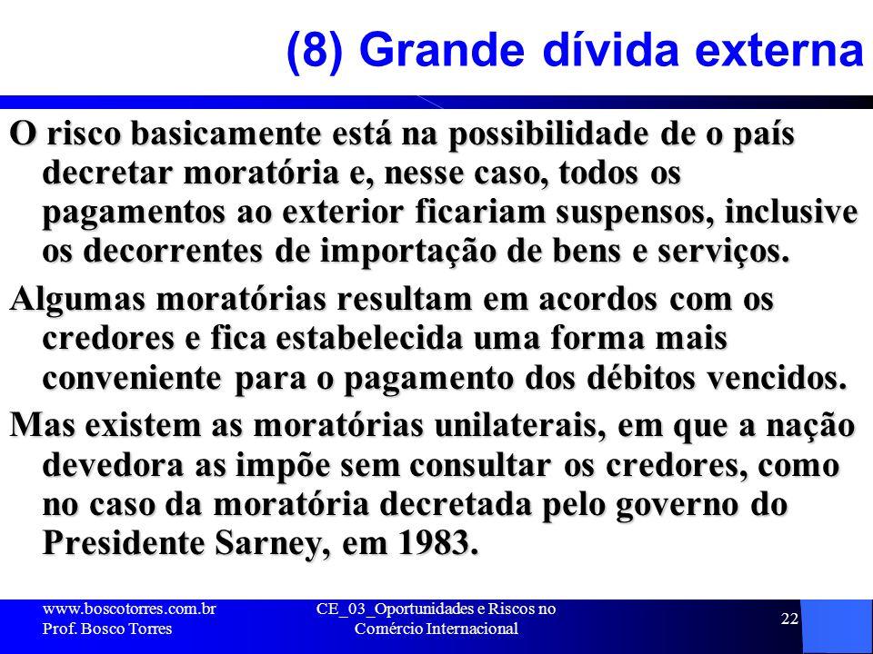 (8) Grande dívida externa