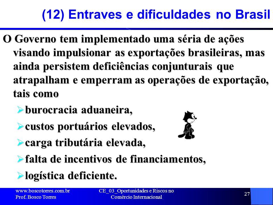 (12) Entraves e dificuldades no Brasil