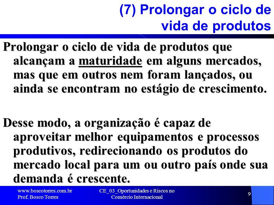 (7) Prolongar o ciclo de vida de produtos