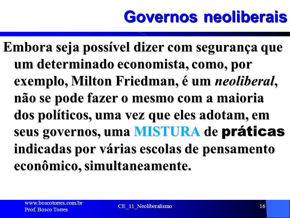 Governos neoliberais