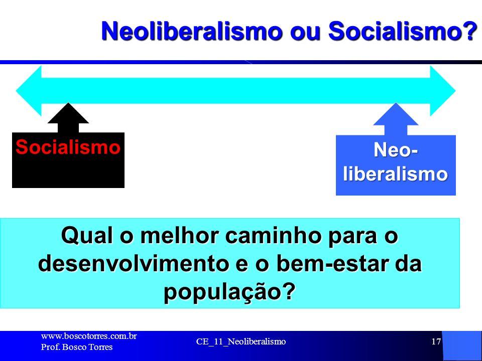 Neoliberalismo ou Socialismo