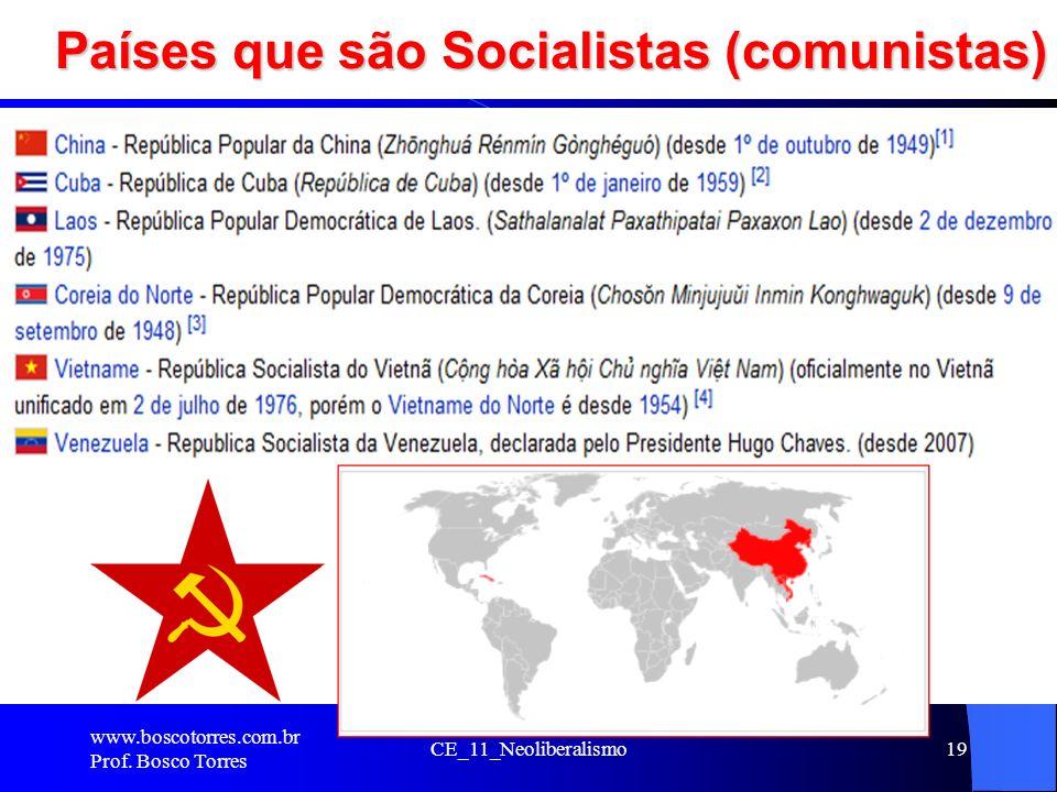 Países que são Socialistas (comunistas)