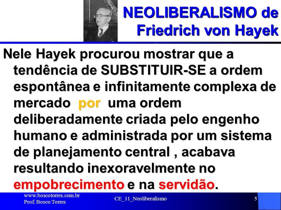 NEOLIBERALISMO de Friedrich von Hayek