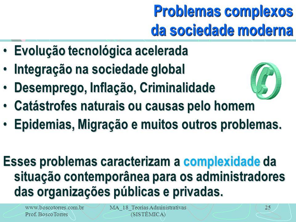 Problemas complexos da sociedade moderna