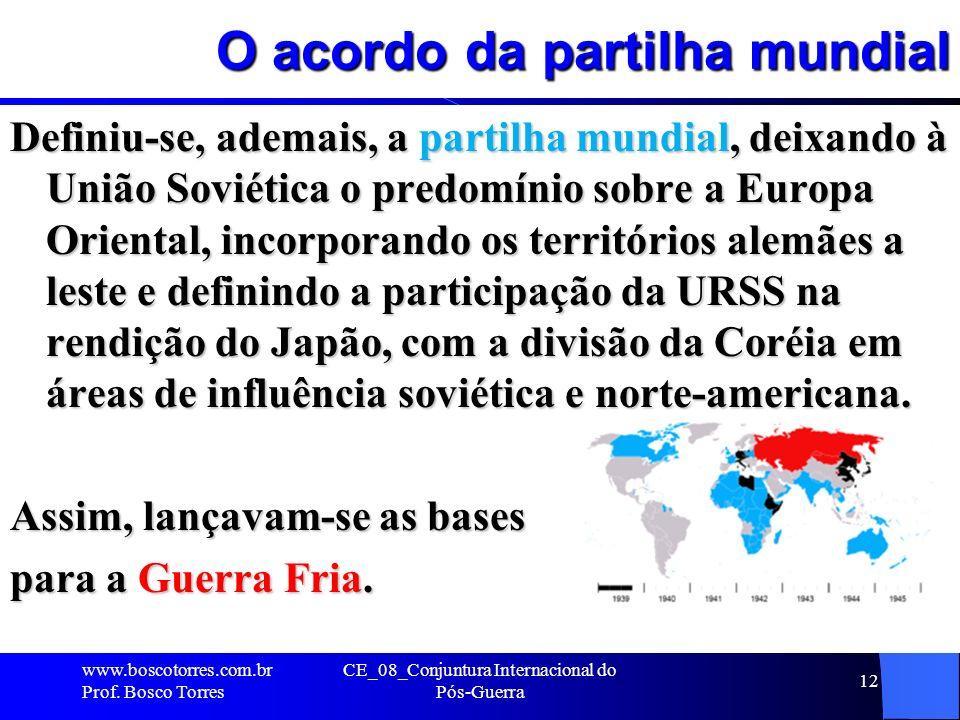 O acordo da partilha mundial