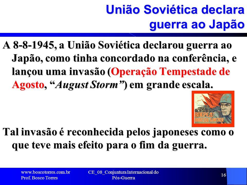 União Soviética declara guerra ao Japão