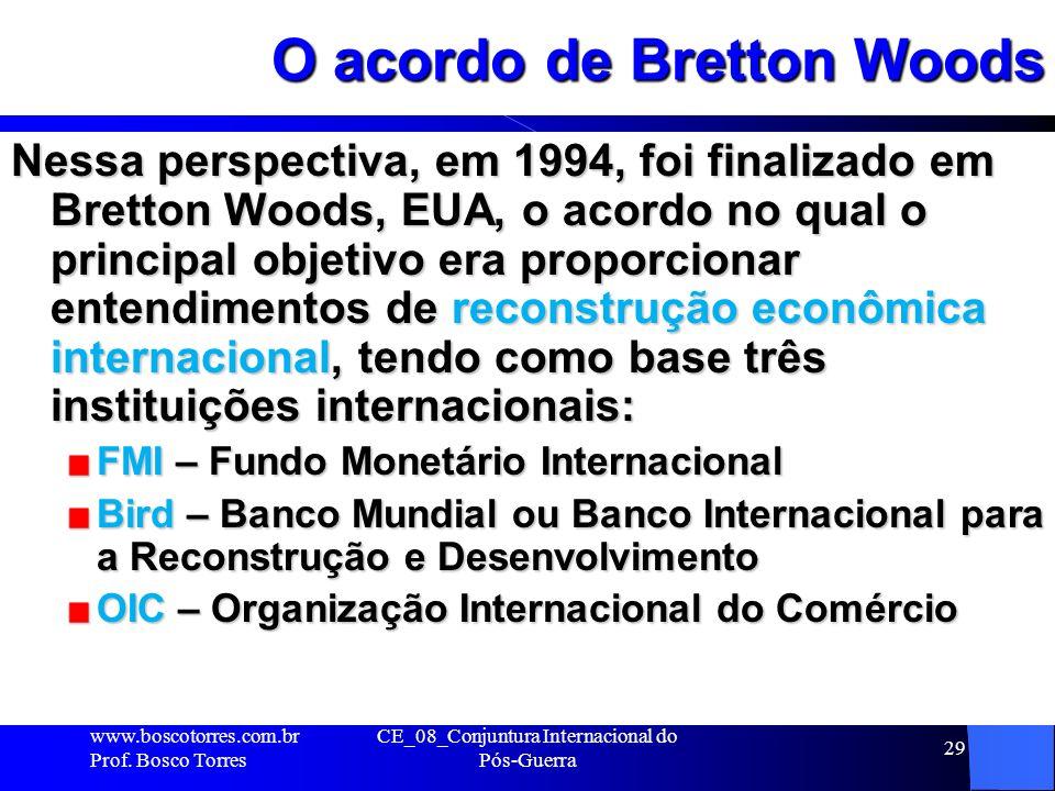 O acordo de Bretton Woods