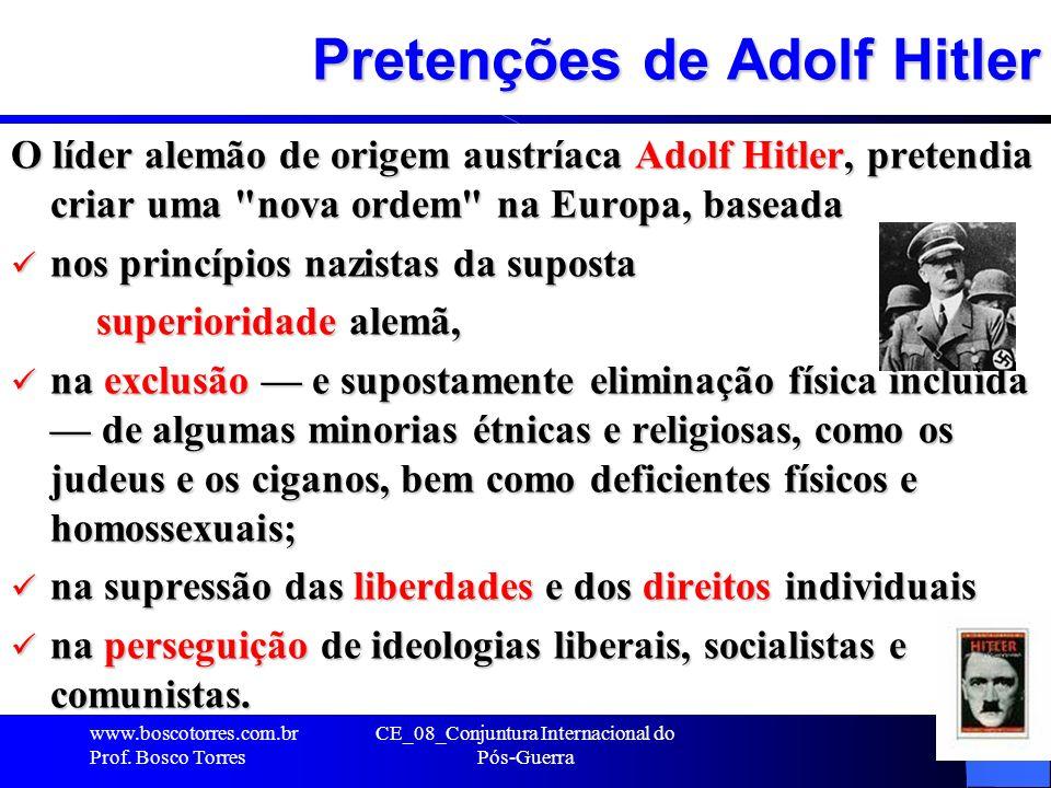 Pretenções de Adolf Hitler