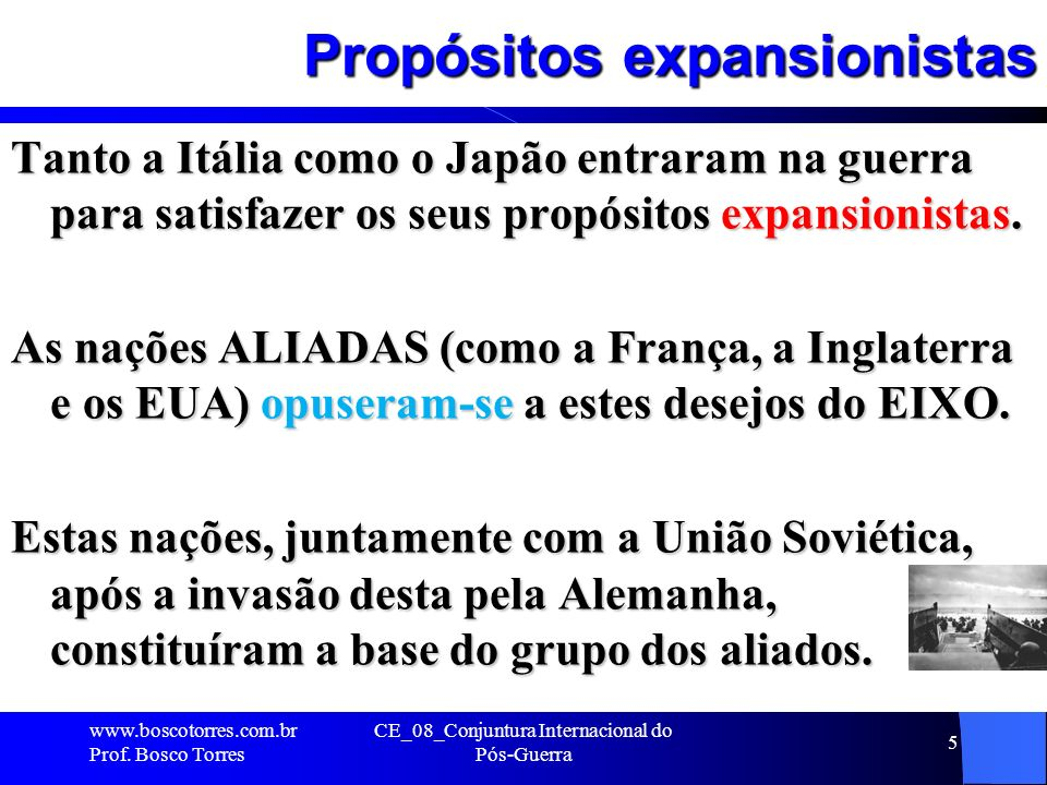 Propósitos expansionistas