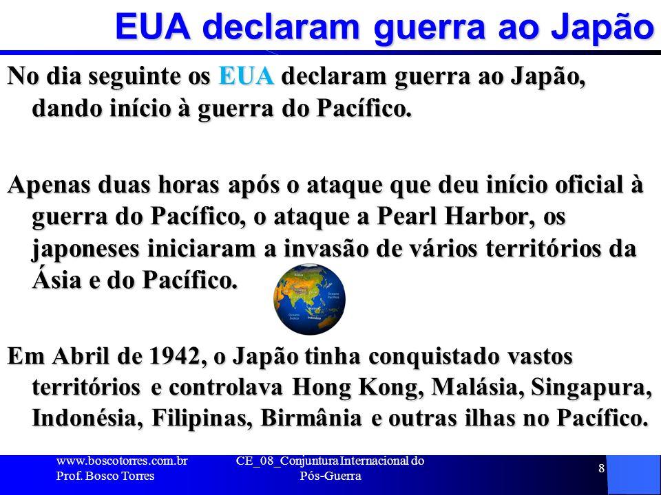 EUA declaram guerra ao Japão
