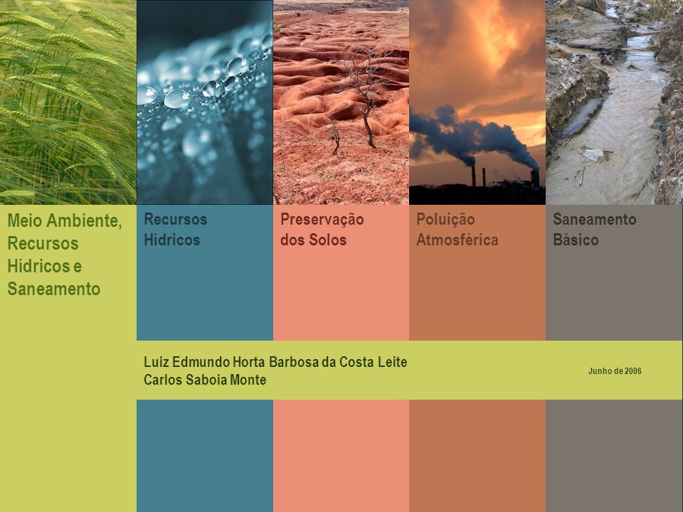 Meio Ambiente, Recursos Hídricos e Saneamento