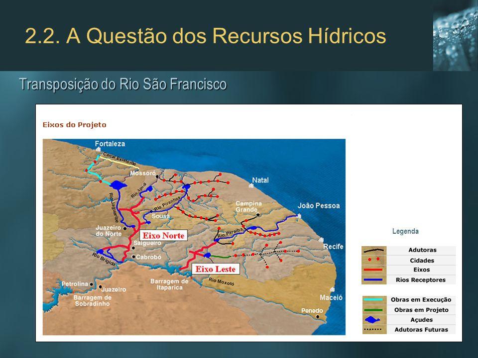 2.2. A Questão dos Recursos Hídricos