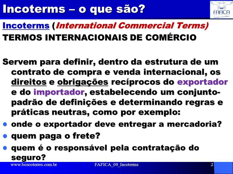 Incoterms – o que são Incoterms (International Commercial Terms)