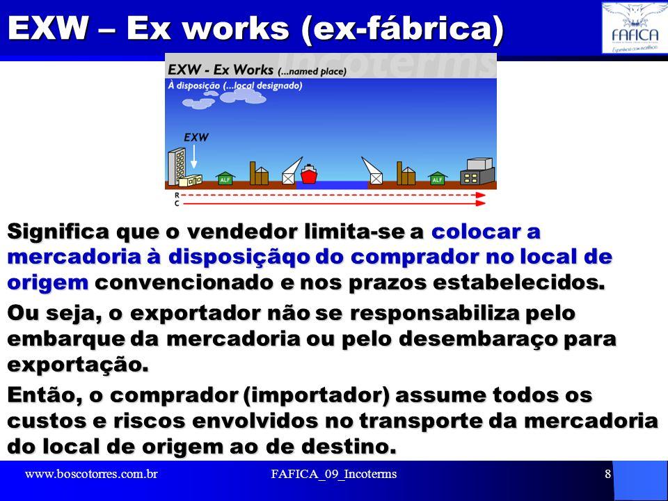 EXW – Ex works (ex-fábrica)