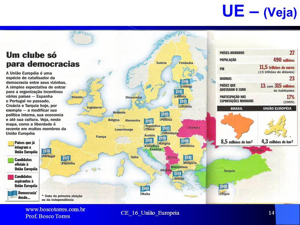 UE – (Veja) . www.boscotorres.com.br Prof. Bosco Torres