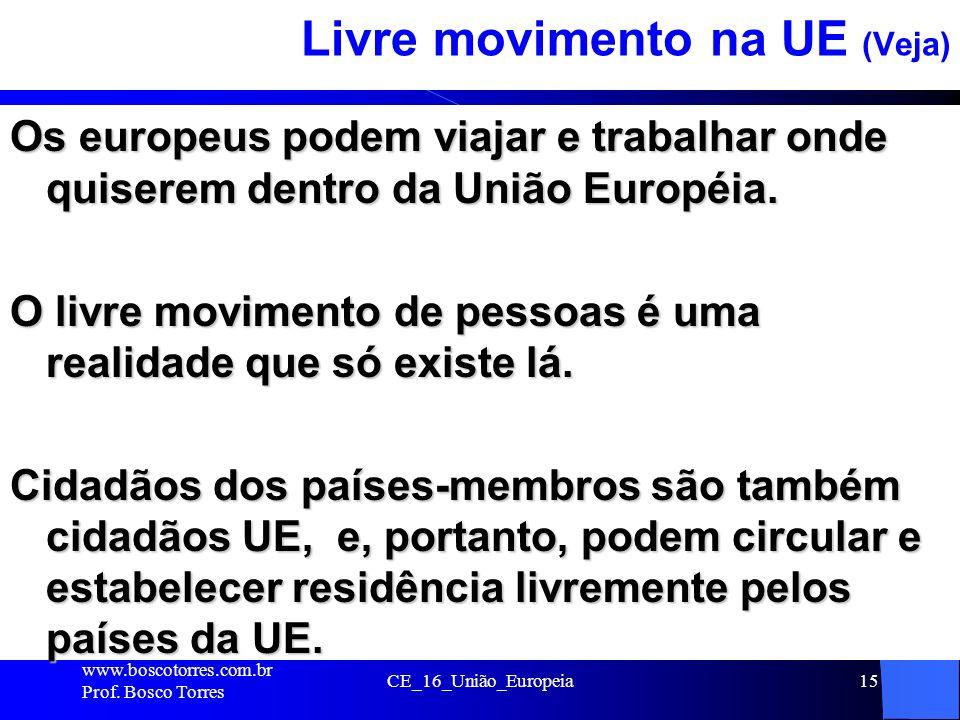 Livre movimento na UE (Veja)