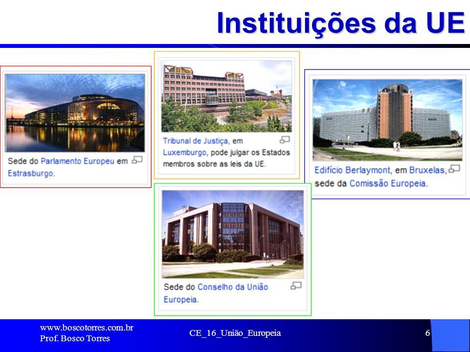 Instituições da UE .. www.boscotorres.com.br Prof. Bosco Torres