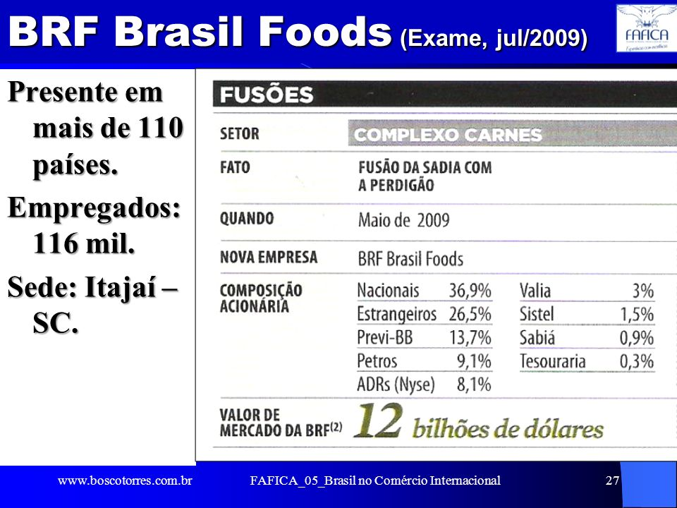 BRF Brasil Foods (Exame, jul/2009)