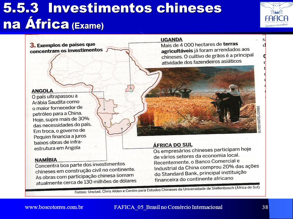 5.5.3 Investimentos chineses na África (Exame)