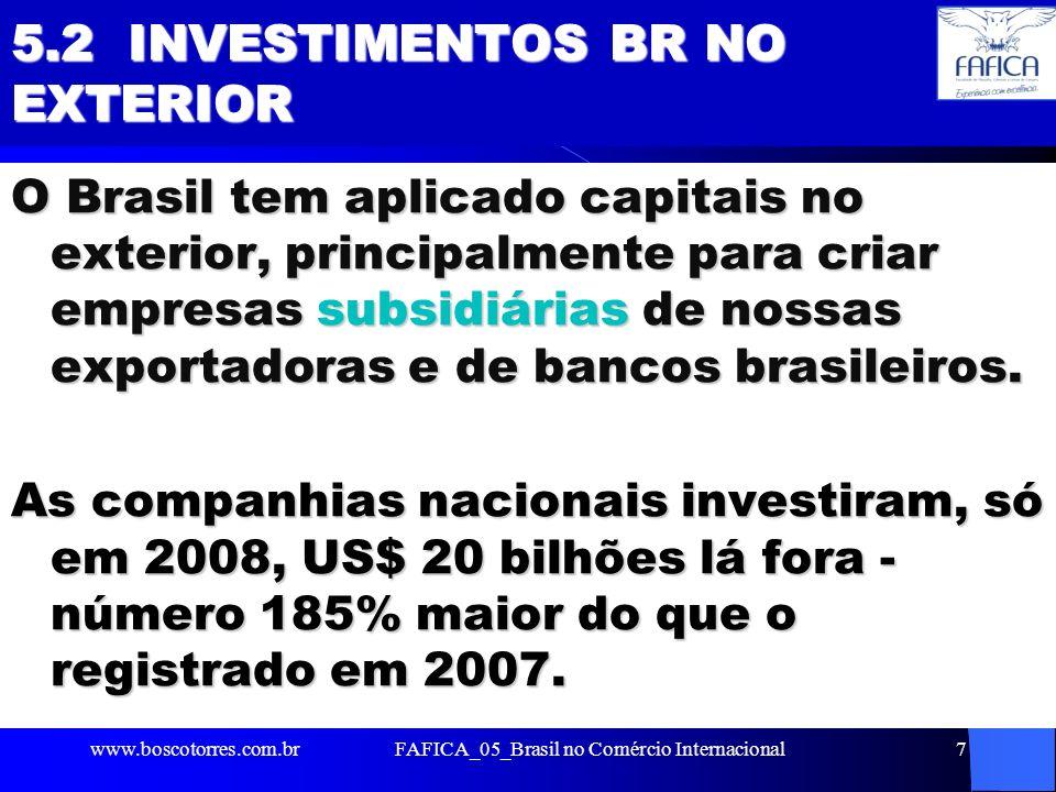5.2 INVESTIMENTOS BR NO EXTERIOR