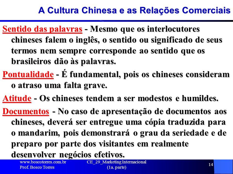 A Cultura Chinesa e as Relações Comerciais