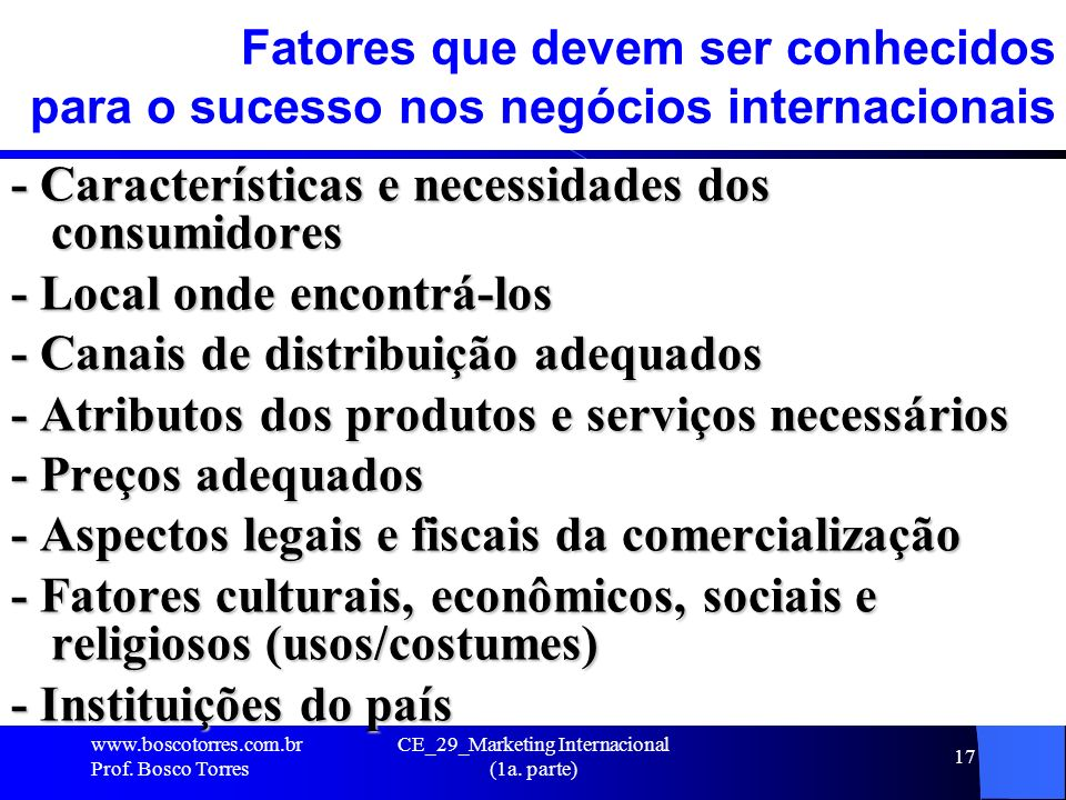 CE_29_Marketing Internacional (1a. parte)