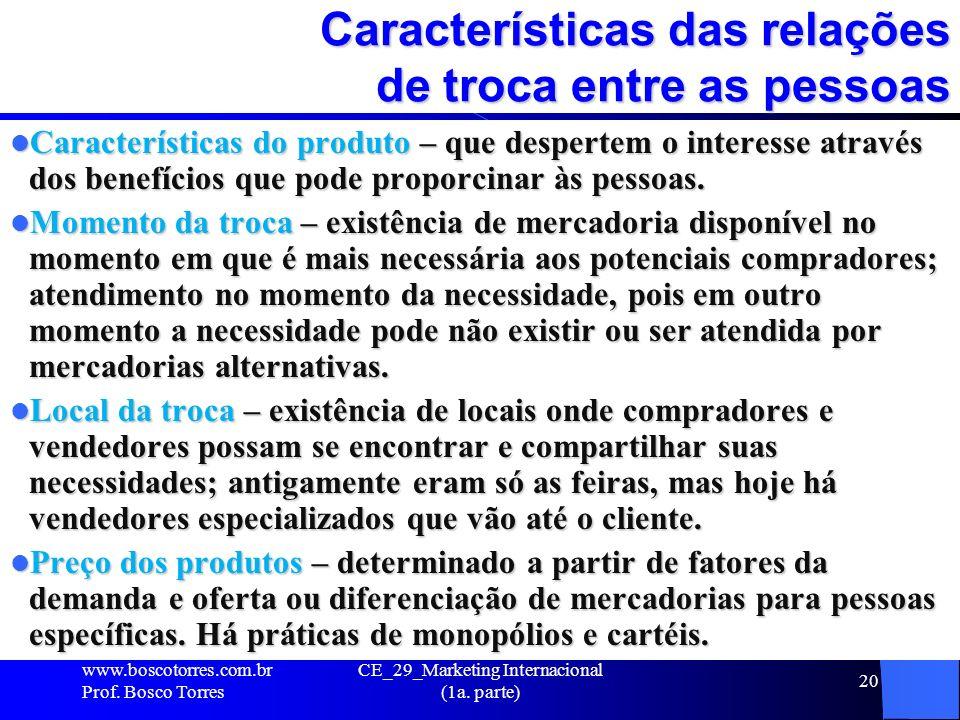 Características das relações de troca entre as pessoas