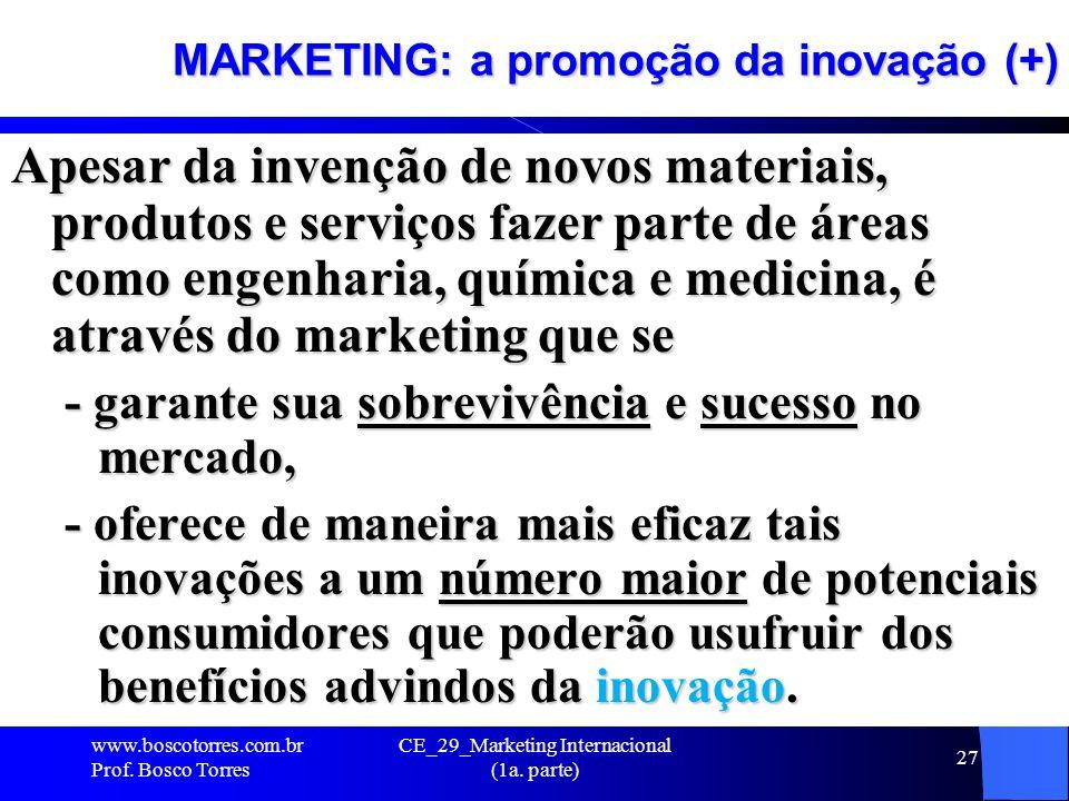 MARKETING: a promoção da inovação (+)