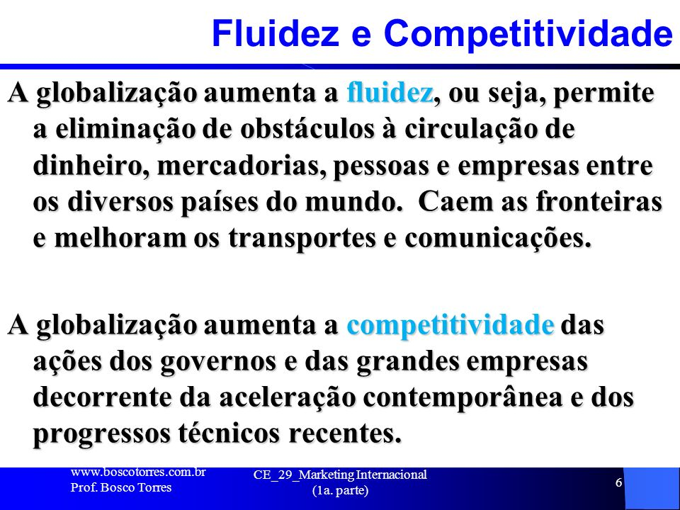 Fluidez e Competitividade