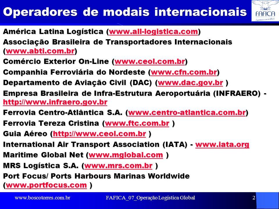 Operadores de modais internacionais