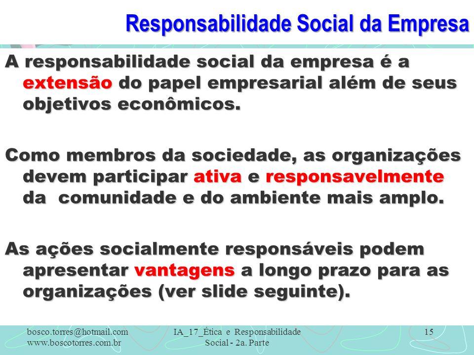 Responsabilidade Social da Empresa
