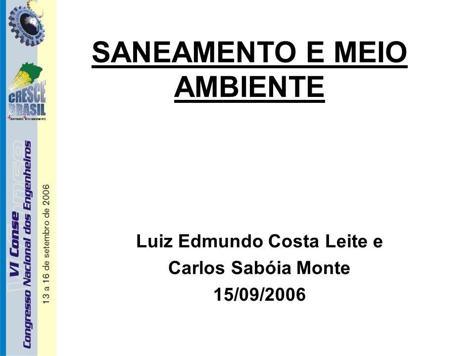 SANEAMENTO E MEIO AMBIENTE