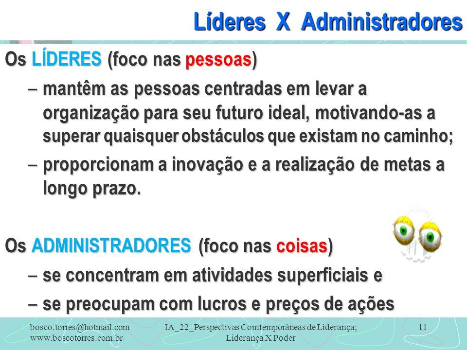 Líderes X Administradores